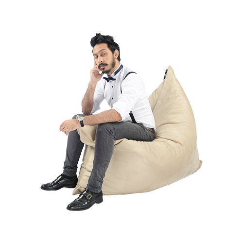 SoftRock Living Vesuvius Luxurious Suede Bean Bag