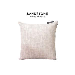 Sandstone chenille fabric cushion