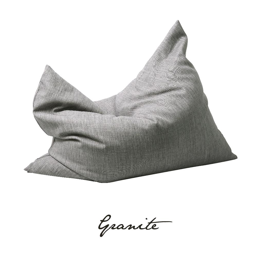 SoftRock Living Bean Bags Vesuvius Linen-Style Upholstery Bean Bag Versatile Sandstone Granite Singapore