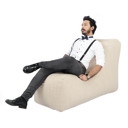 SoftRock Living Bohemian chenille fabric bean bag lounger