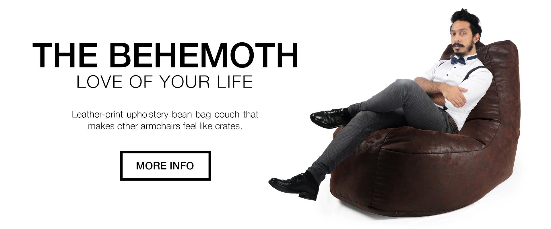 SoftRock Behemoth Bean Bag Couch